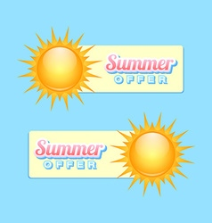 Summer offer vector image