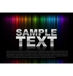 vertical lines abstract rainbow dark top text vector image vector image