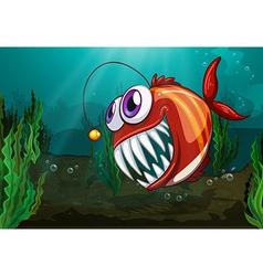 A big fish under the sea vector image vector image