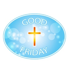 good friday with cross banner vector image vector image