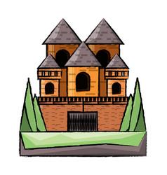 medieval castle design vector image