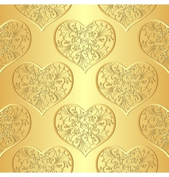 Seamless gold valentine pattern vector image vector image