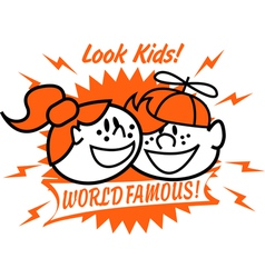 World famous kids vector image vector image