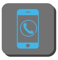 Phone rounded square button vector
