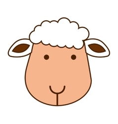 Sheep cute character icon vector