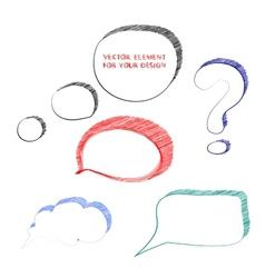 Speech bubble vector image