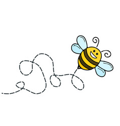 a funny bee comic character vector image