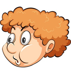 A head of a boy vector