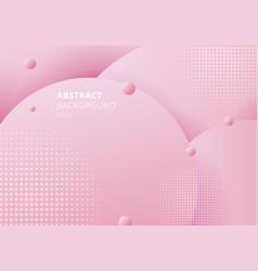 abstract 3d liquid fluid circles pink pastels vector image