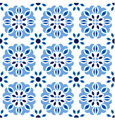 abstract flower tile pattern vector image