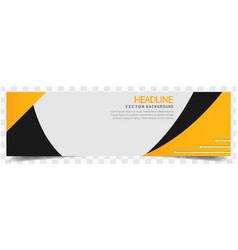 abstract yellow black white background headline ve vector image