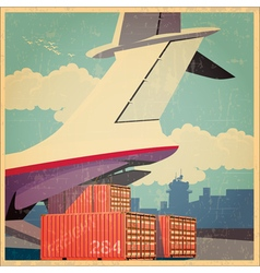 Air freighter old poster vector