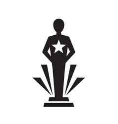 Award winner cup - black icon on white background vector