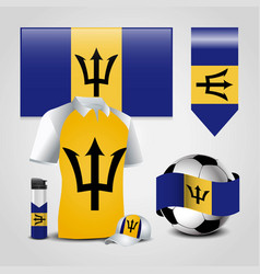 Barbados country flag place on t-shirt lighter vector
