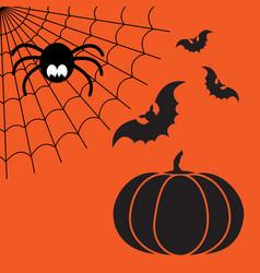 black and orange cartoon isolated spider vector image