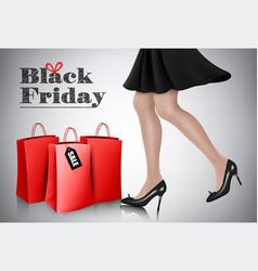 black friday sale background with elegant vector image
