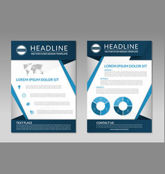 Business brochure flyer design template A4 size vector image