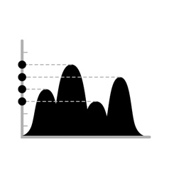 Business data graph chart analytics vector image