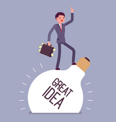 Businessman great idea vector