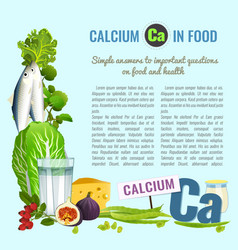 Calcium food template vector