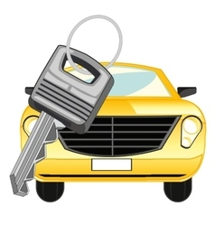 Car and key vector