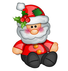 christmas toy in form santa claus sample vector image