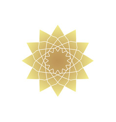 circular geometric ornament vector image