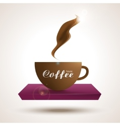 Coffee shop trendy background with coffee cup on vector image