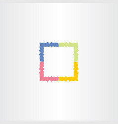 colorful frame box icon symbol vector image