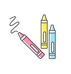 Crayons rgb color icon vector