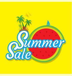 creative hot summer sale banner design vector image