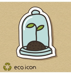 Eco concept on cardboard vector image