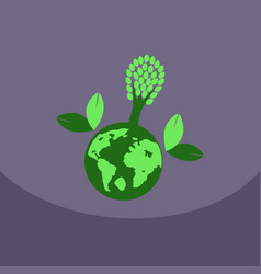 eco friendly green energy concept vector image