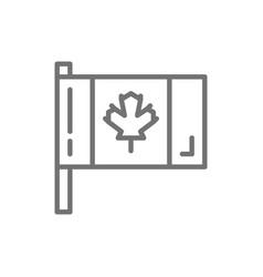 flag canada line icon vector image