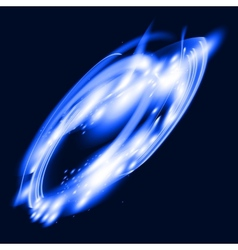 Flask in flame vector