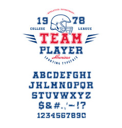 font team player vector image