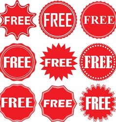 Free signs set free sticker set vector