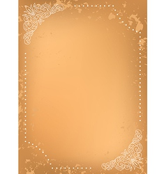 grungy background with white decorative frame vector image vector image