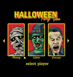 halloween party game vector image