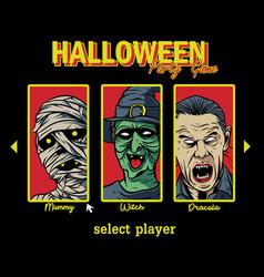 Halloween party game vector