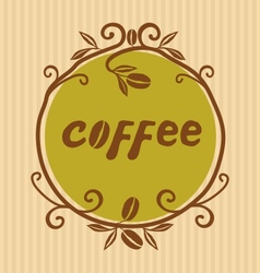 Hand Drawn Coffee logo vector image