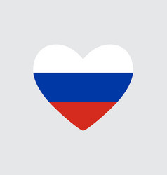 Heart in colors of russian flag vector