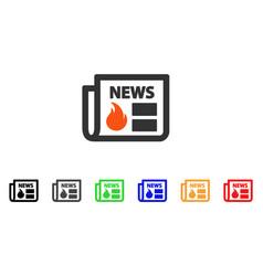 Hot news icon vector