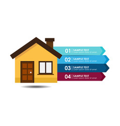 House banner infographic vector