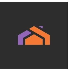 House logo icon abstract sign into flat style vector