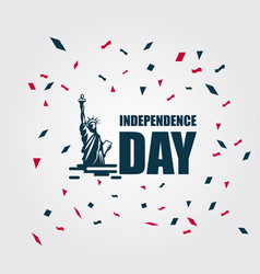Independence day 4th july template design vector