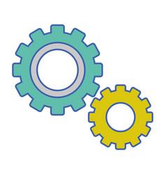 Industry gear process technology vector