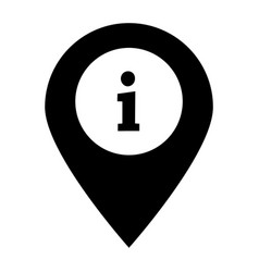 information on pin icon on white background flat vector image