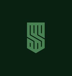 initial letter s logo design inspiration vector image