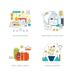 Investment strategy planning finance education vector